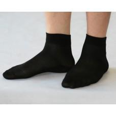 """Мужские носки укороченные облегченные """"Сетка в полоску"""" М-СU002"""